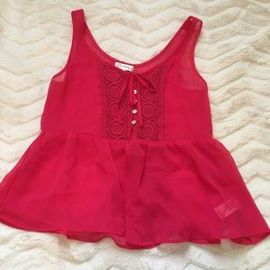 Red summer top
